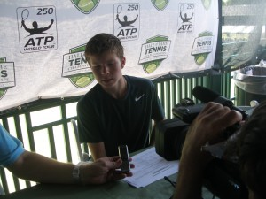 15-year-old Stefan Kozlov meets the press.