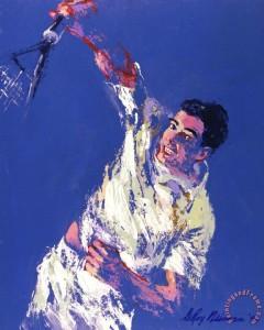 Pete Sampras Painting by Leroy Neiman; Pete Sampras Art Print for sale